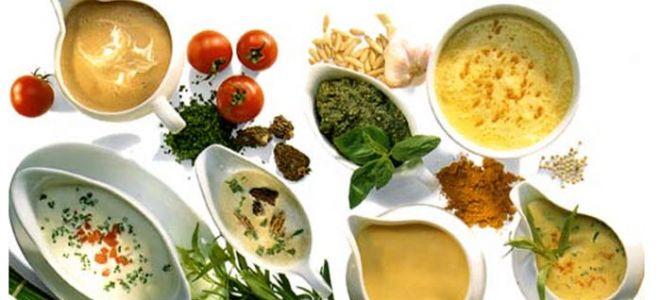 Рецепты раздельного питания: заправки