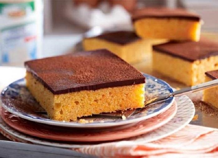 тыквенный пирог с глазурью
