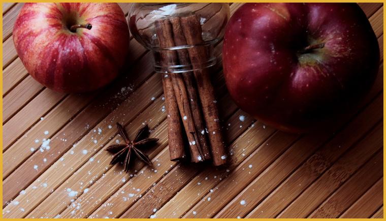Очищение организма яблоком и корицей