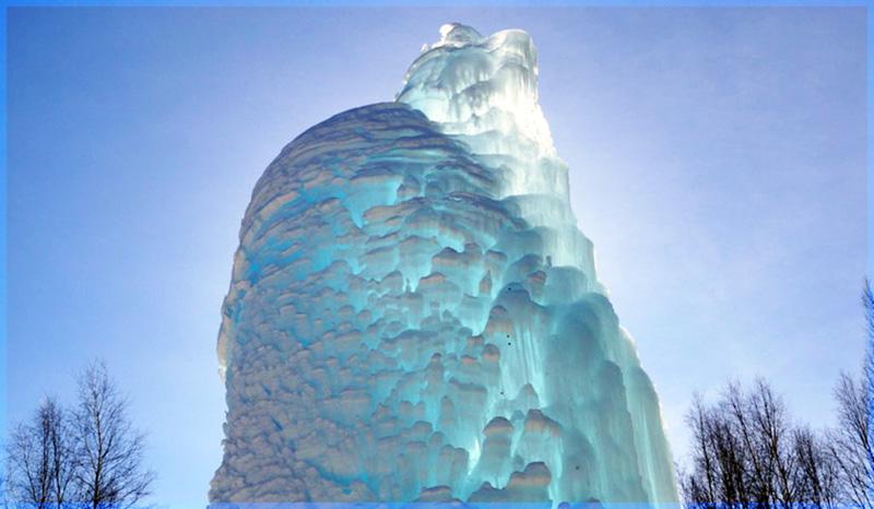 ледяной фонтан на южном урале