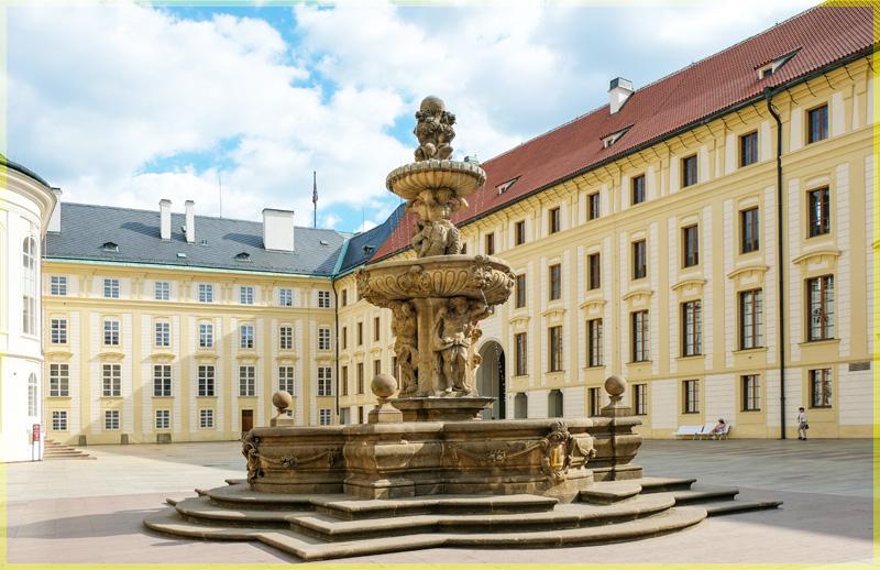 Леопольдов Фонтан( фонтан Кола) - древнейший фонтан в Праге