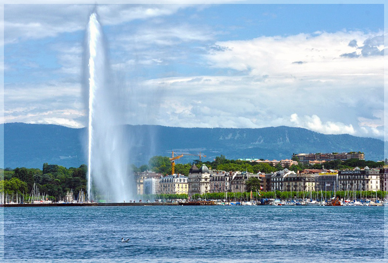Фонтан Же до в Женеве