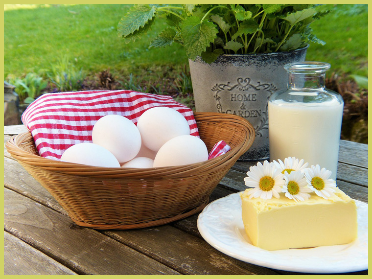 яйца и молочка