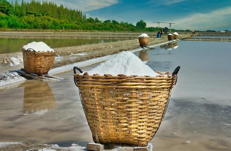 соль в корзине